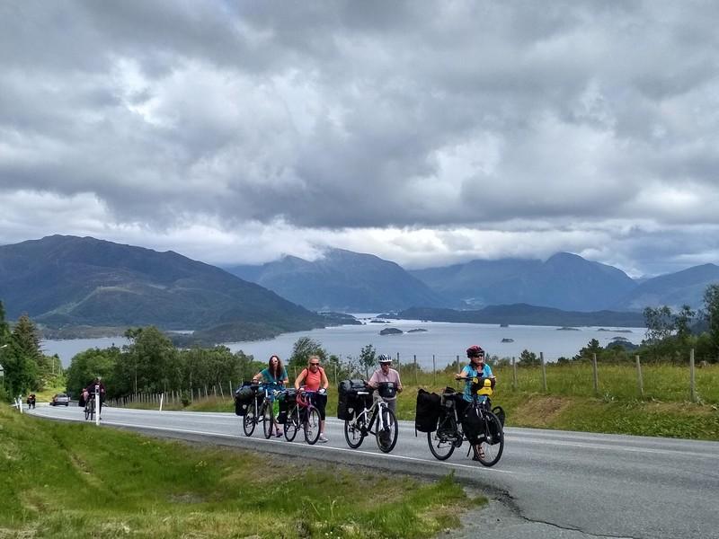 norwegia rowerem