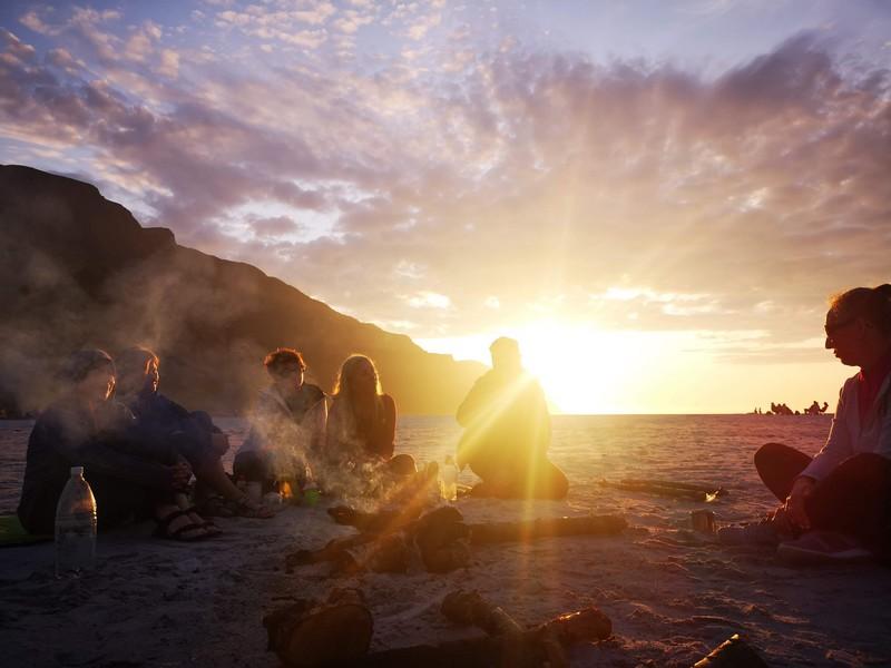 zachód słońca norwegia plaża
